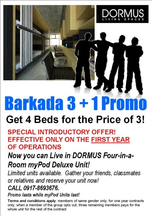 Manila Dormitory Promo