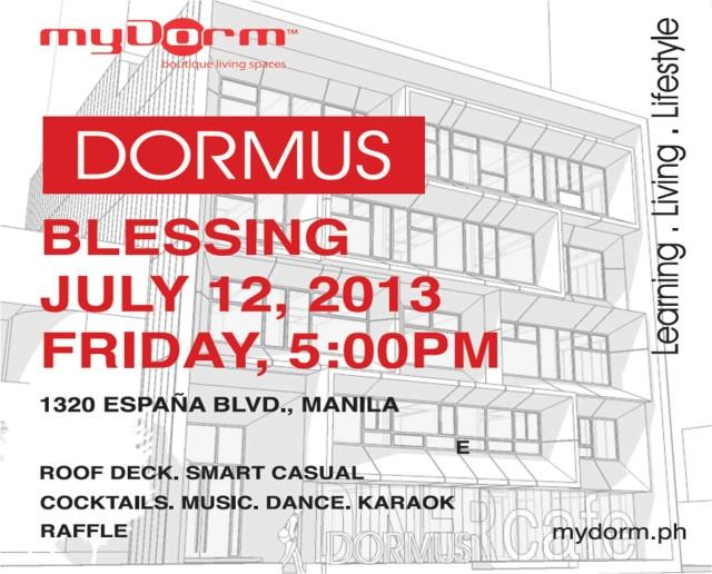 DORMUS Opening Invites