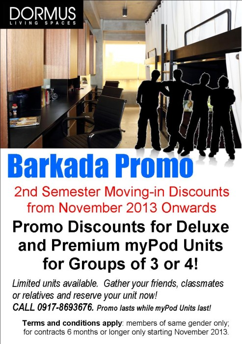 DORMUS Barkada Promo is Back!